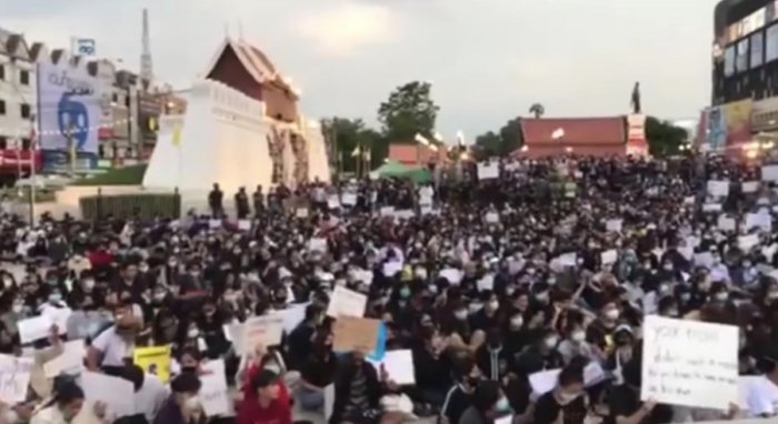 Protests in Thailand, July 2020 (photo: Prachatai  CC-BY-3.0)