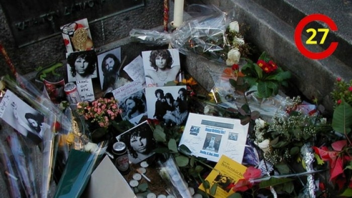 Gravestone of Jim Morrison, Pere Lachaise, Paris (photo: SK49 Jürgen Schuschke, CC BY-SA 3.0)