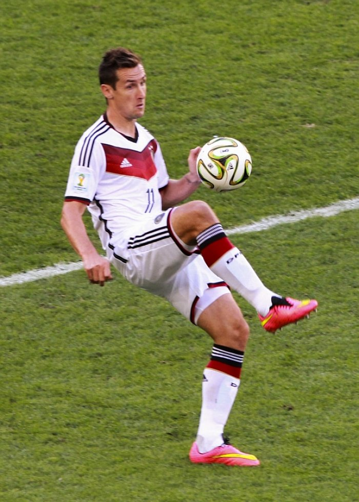 Best football World Cups scorer Miroslav Klose, Germany (photo: Danilo Borges, CC BY 3.0)