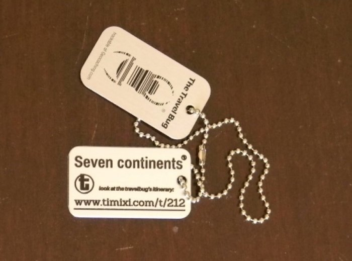 travel bug Seven Continents (foto: Jan Brich/Timixi, CC BY-NC-SA 4.0)
