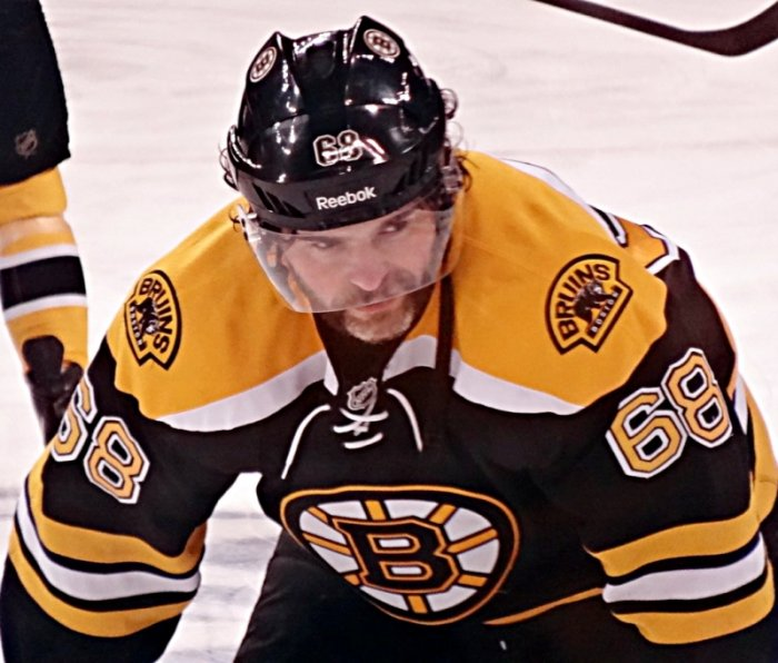 Jaromir Jagr in Boston Bruins jersey (photo: Michael Miller, CC BY-SA 3.0)