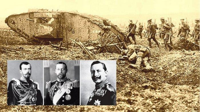 e175b1fab Válčící bratranci (král Jiří V., císař Vilém II. a car Mikuláš II ...