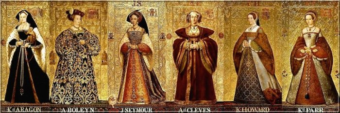 Wives of Henry VIII (painting: Richard Burchett)