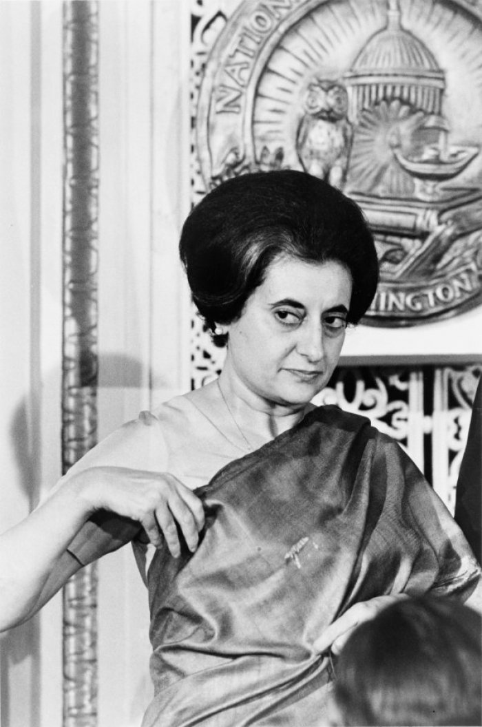 Indira Gandhi - Prime Minister of India (photo: Warren K. Leffler, US Library of Congress, public domain)