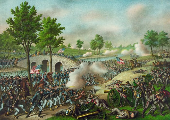 Civil War: Battle of Antietam (author: unknown, Kurz & Allison, public domain)