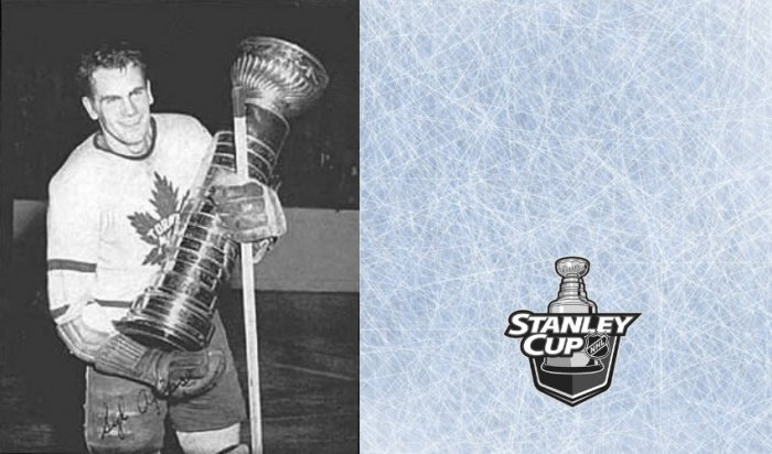 Shape of the Cup in 1940s - Syl Apps, Toronto (credit: NHL, assembly: Timixi, CC BY-NC-SA 4.0)
